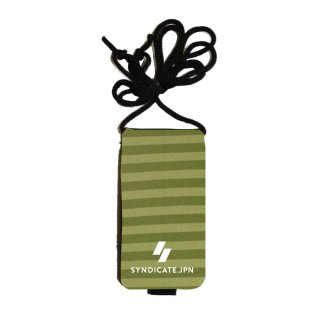 【SYNDICATE】NEOPRENE KEY CASE Green Stripe