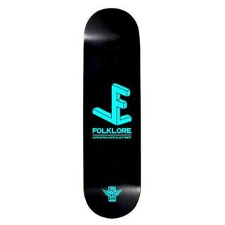 【FOLKLORE】3D ・ 8.00 ブルー - フォークロアのファイバーテックライトスケートデッキ