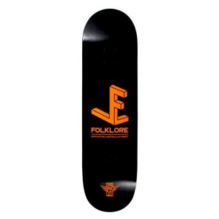 【FOLKLORE】3D ・ 8.00 オレンジ - フォークロアのファイバーテックライトスケートデッキ