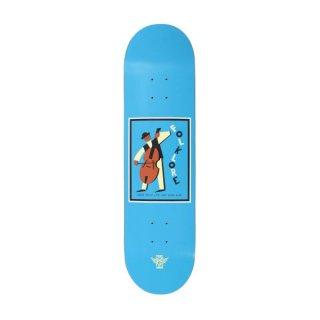 【FOLKLORE】CELLO ・ 8.125 ブルー - フォークロアのファイバーテックライトスケートデッキ