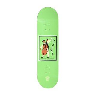 【FOLKLORE】CELLO ・ 8.125 グリーン- フォークロアのファイバーテックライトスケートデッキ