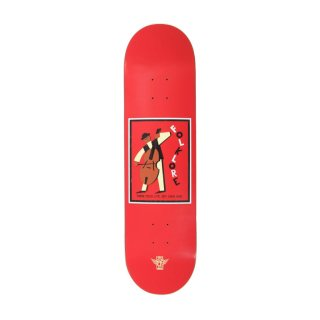 【FOLKLORE】CELLO ・ 8.125 レッド- フォークロアのファイバーテックライトスケートデッキ