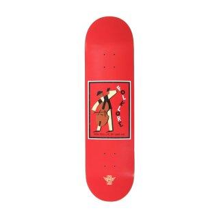 【FOLKLORE】CELLO ・ 7.75 レッド - フォークロアのファイバーテックライトスケートデッキ