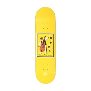 【FOLKLORE】CELLO ・ 7.75 イエロー - フォークロアのファイバーテックライトスケートデッキ