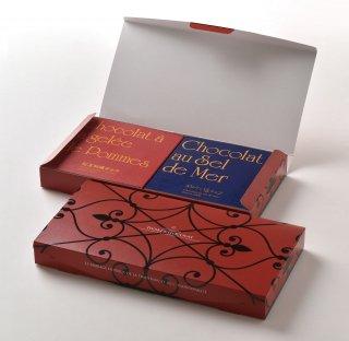 <b>めひかり塩チョコ×紅玉林檎チョコセット</b><br>いわきチョコレートの定番商品「めひかり塩チョコ」と、伊達水密園の紅玉を贅沢つかった「紅玉林檎チョコ」のセットです。