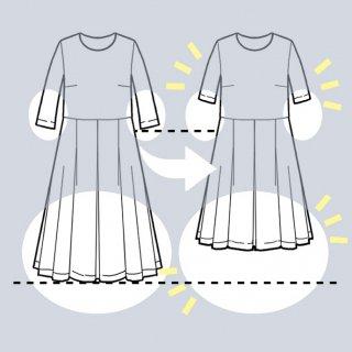 【袖丈・スカート丈を短くする】アーミッシュ風シンプルワンピース◇リメイク