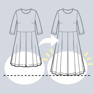 【スカート丈を長くする】アーミッシュ風シンプルワンピース◇リメイク