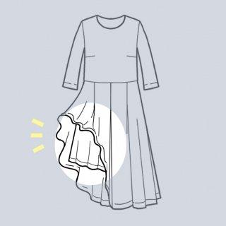 【スカートに裏地を追加する】アーミッシュ風シンプルワンピース◇リメイク
