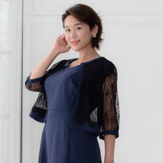 <img class='new_mark_img1' src='https://img.shop-pro.jp/img/new/icons20.gif' style='border:none;display:inline;margin:0px;padding:0px;width:auto;' />【70%OFF】Lace Cardigan Round neck -Navy-