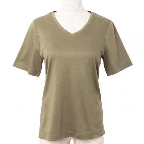 【50%OFF】T-shirt V neck - Khaki-