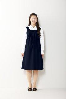 【Lサイズ入荷未定】HCF6500【ピエ】マタニティジャンパースカート(タック入)