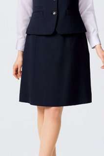 【ボンオフィス・A164シリーズ】LS2202Aラインスカート【オールシーズン・ストレッチ・部分ゴム・ホームクリーニング】