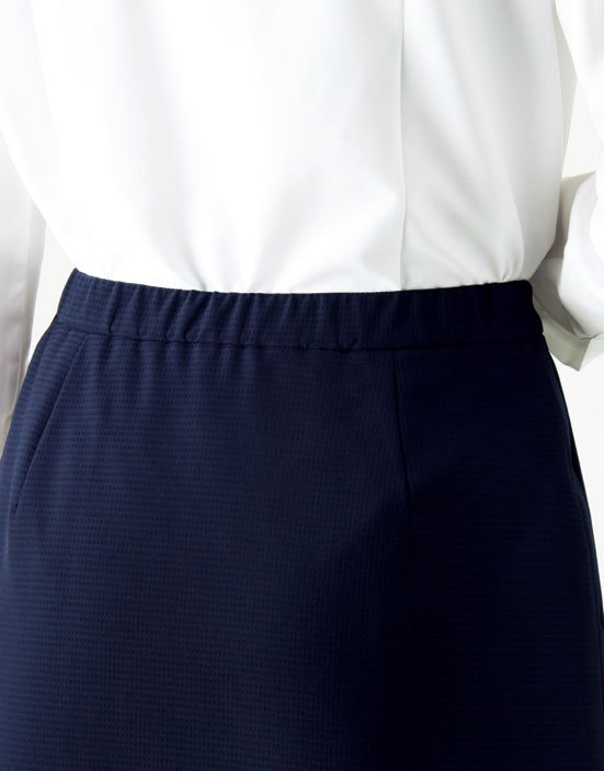 AS2805【 ボンマックス】Aラインスカート【ストレッチ・ホームクリーニング・軽量・部分ゴム】