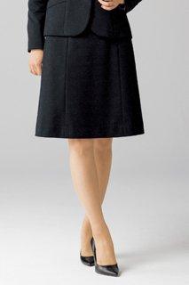 【ボンオフィス・A182シリーズ】 AS2304 Aラインスカート【オールシーズン・ニット・ウエスト部分ゴム・ホームクリーニング】