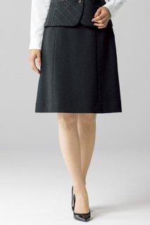 【ボンオフィス・A181シリーズ】 AS2307 Aラインスカート(無地)【オールシーズン・ストレッチ・ウエスト部分ゴム・ホームクリーニング】