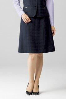 【ボンオフィス・B1804シリーズ】BCS2109Aラインスカート【オールシーズン・ストレッチ・ウエスト部分ゴム・ホームクリーニング】