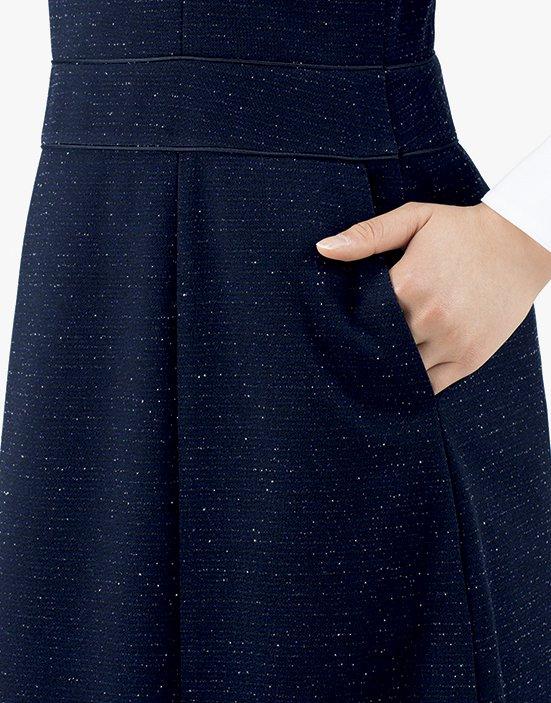 【2019秋冬新作・A182シリーズ】 AO5200 ジャンパースカート【オールシーズン・ニット・ホームクリーニング】