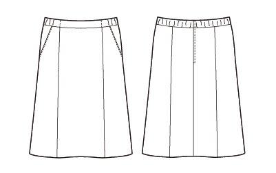 【アルファピア2019秋冬新作】AR3882 Aラインスカート【オールシーズン・ストレッチ・ホームクリーニング】