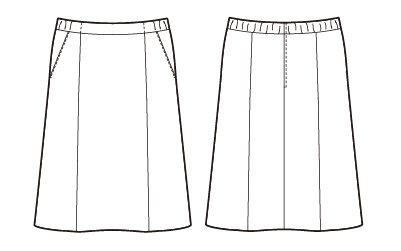 【アルファピア】AR3886 Aラインスカート【オールシーズン・ストレッチ・ウエスト部分ゴム・帯電防止・ホームクリーニング】