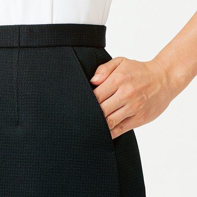 【アルファピア・ニットシリーズ】AR3683 Aラインスカート【春夏商品・高通気・ニット・防シワ・ホームクリーニング(ノーアイロン)】