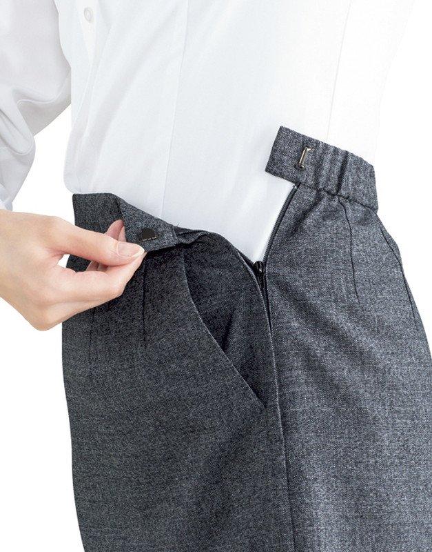 【ボンオフィス・A192シリーズ】AS2312 Aラインスカート【オールシーズン・抗菌消臭(ポリジン®)加工・ストレッチ・ホームクリーニング】