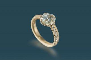 メイカブルダイヤモンド原石リング