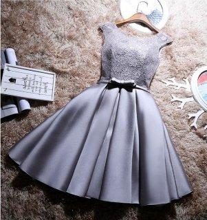 即納有りLuxury 後ろ編み上げパーティードレス 結婚式パーティードレス 成人式ドレス 謝恩会ドレス