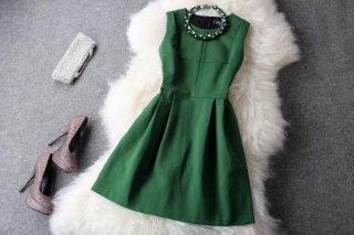 Luxury ネックレス付きパーティードレス 結婚式パーティードレス 成人式ドレス 謝恩会ドレス