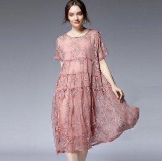 2L~5L 大きいサイズ ゆったり袖ありドレス 結婚式ドレス 謝恩会ドレス 成人式ドレス 二次会ワンピース
