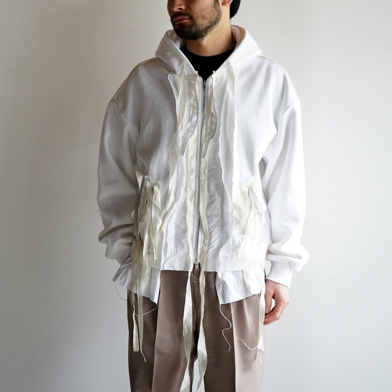 [Midorikawa] Full Zip Sweat Hoodie (white)  MID20SS-CU04
