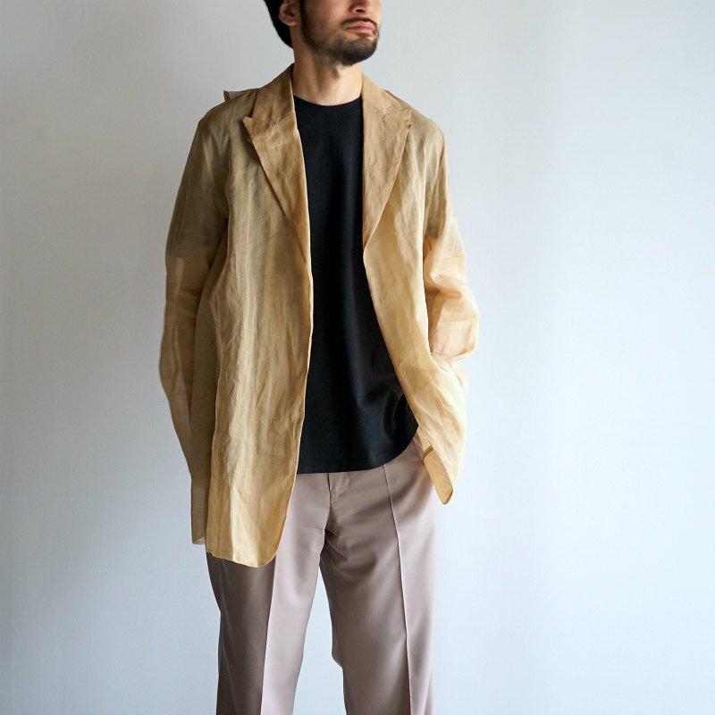[Midorikawa] See-through Jacket (BEIGE)  MID20SS-JK07A