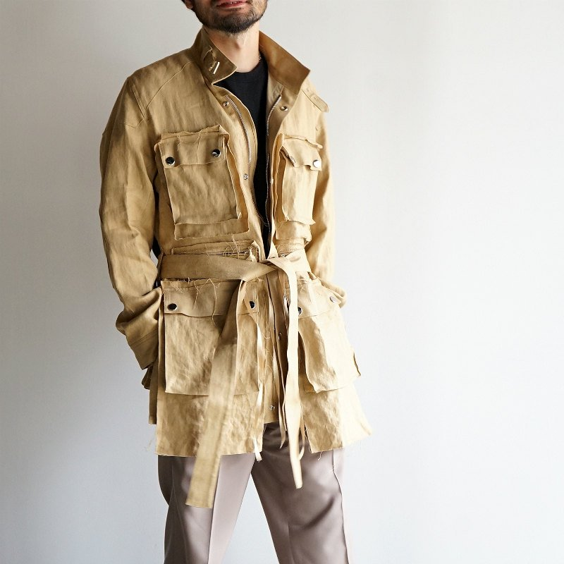[Midorikawa] Motor Cycle Jacket (BEIGE)  MID20SS-JK09A