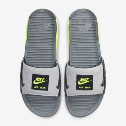 <img class='new_mark_img1' src='https://img.shop-pro.jp/img/new/icons24.gif' style='border:none;display:inline;margin:0px;padding:0px;width:auto;' />[SALE] [NIKE] AIR MAX 90 SLIDE BQ4635-001 (SMOKE GREY/SMOKE GREY/VOLT)