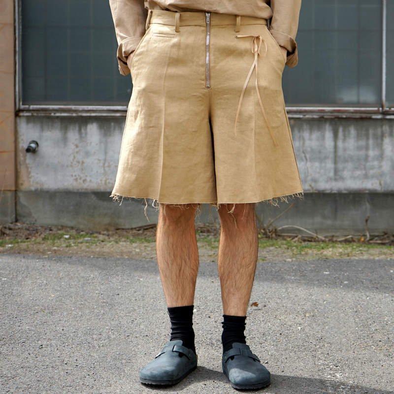 [Midorikawa] SHORT PANTS (BEIGE)  MID20SS-P06 A