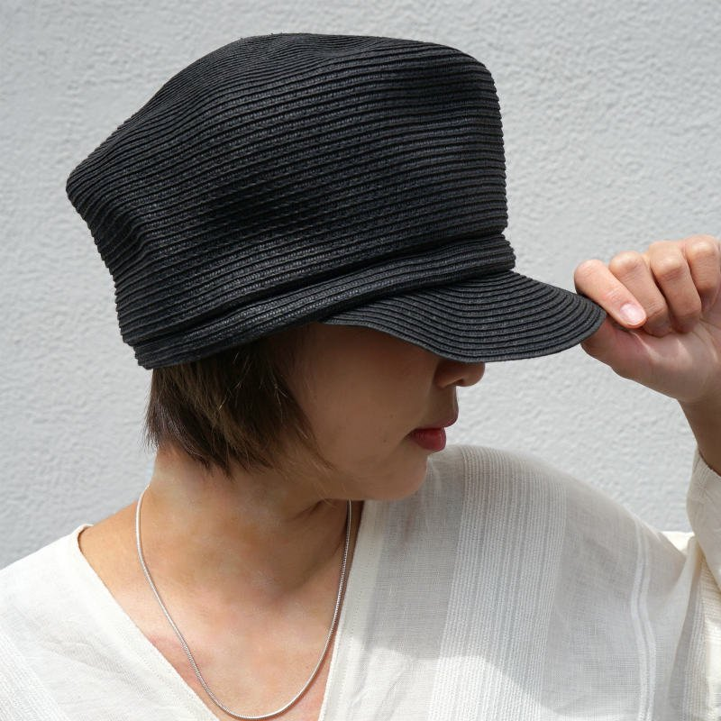 <img class='new_mark_img1' src='https://img.shop-pro.jp/img/new/icons24.gif' style='border:none;display:inline;margin:0px;padding:0px;width:auto;' />[SALE][abu]  アブ paper casquette(BLACK)