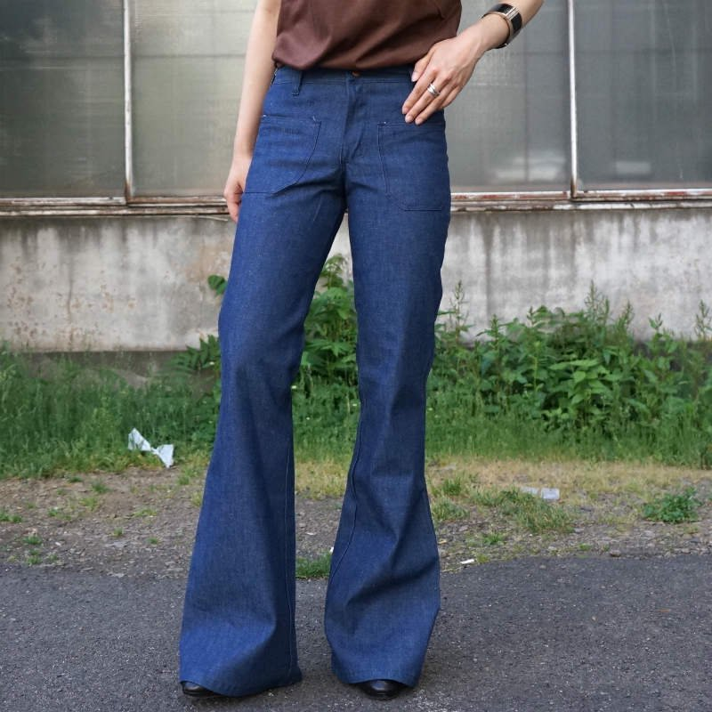 <img class='new_mark_img1' src='https://img.shop-pro.jp/img/new/icons6.gif' style='border:none;display:inline;margin:0px;padding:0px;width:auto;' />[MaW VINTAGE] DEADSTOCK US made Wrangler BIG BELL JEANS