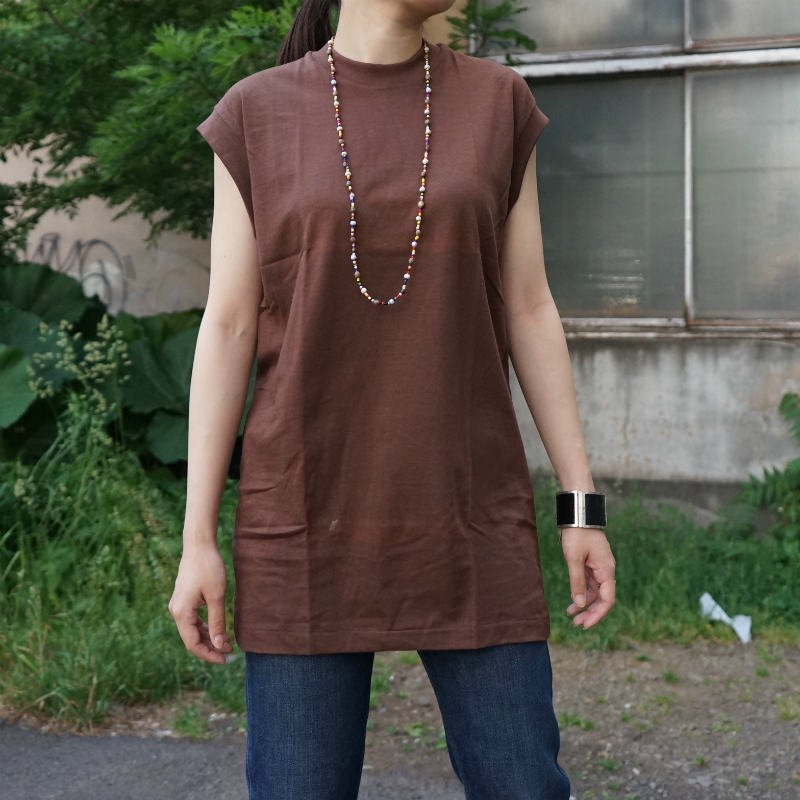 <img class='new_mark_img1' src='https://img.shop-pro.jp/img/new/icons6.gif' style='border:none;display:inline;margin:0px;padding:0px;width:auto;' />[MaW VINTAGE] Cotton Nosleeve Tops