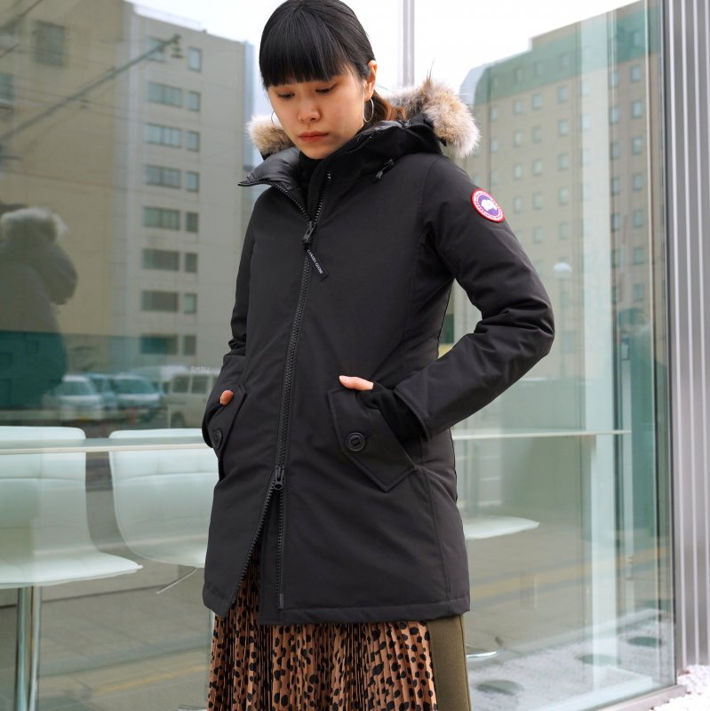 <img class='new_mark_img1' src='https://img.shop-pro.jp/img/new/icons6.gif' style='border:none;display:inline;margin:0px;padding:0px;width:auto;' />[CANADA GOOSE] カナダグースROSEMONT PARKA FF 3030LA (BLACK)
