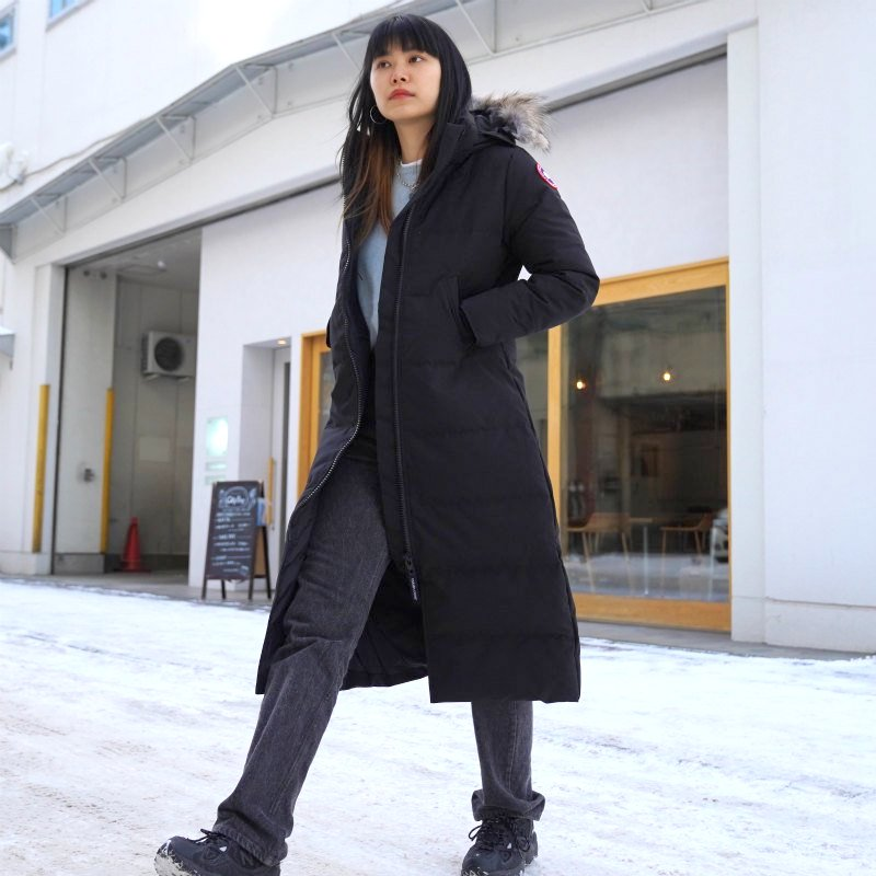 <img class='new_mark_img1' src='https://img.shop-pro.jp/img/new/icons6.gif' style='border:none;display:inline;margin:0px;padding:0px;width:auto;' />[CANADA GOOSE] カナダグース MYSTIQUE PARKA FF 3035LA(BLACK)
