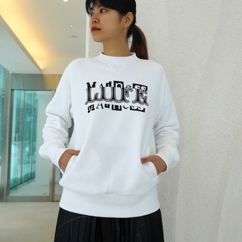<img class='new_mark_img1' src='https://img.shop-pro.jp/img/new/icons6.gif' style='border:none;display:inline;margin:0px;padding:0px;width:auto;' />[sacai] サカイ 21-0174S Archive Mix Pullover(WHITE)