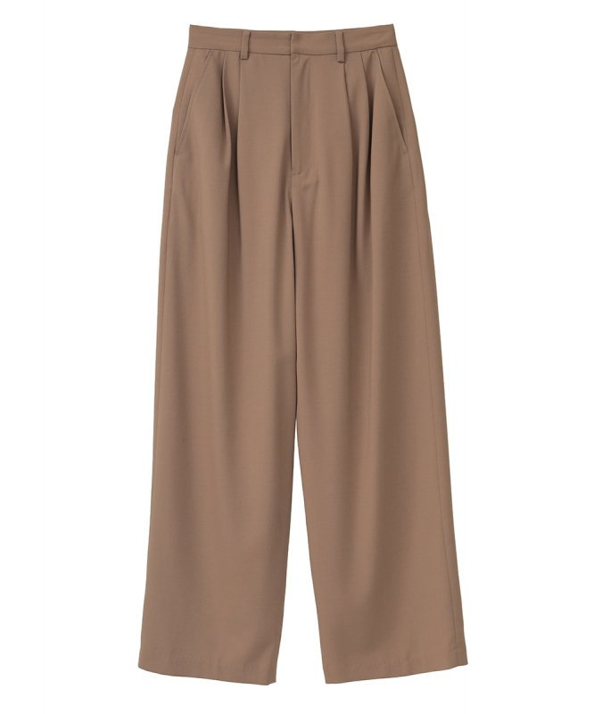<img class='new_mark_img1' src='https://img.shop-pro.jp/img/new/icons50.gif' style='border:none;display:inline;margin:0px;padding:0px;width:auto;' /> [CLANE] クラネ BASIC TUCK PANTS 10110-7012 (BEIGE)