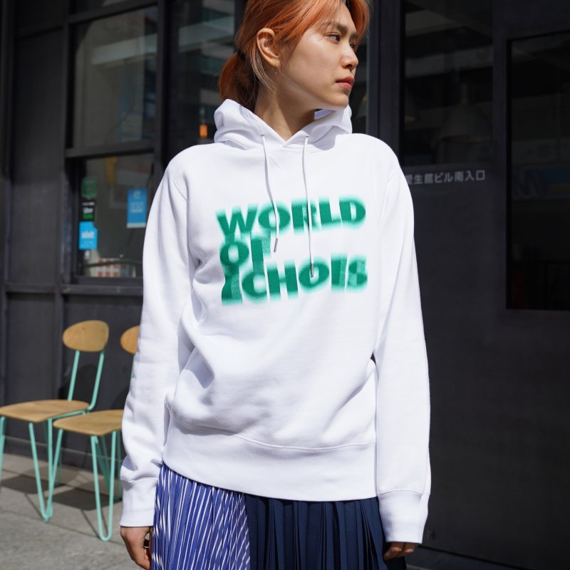 <img class='new_mark_img1' src='https://img.shop-pro.jp/img/new/icons6.gif' style='border:none;display:inline;margin:0px;padding:0px;width:auto;' />[sacai] サカイ 21-0228S Francois K. Hoodie(WHITE×GREEN)