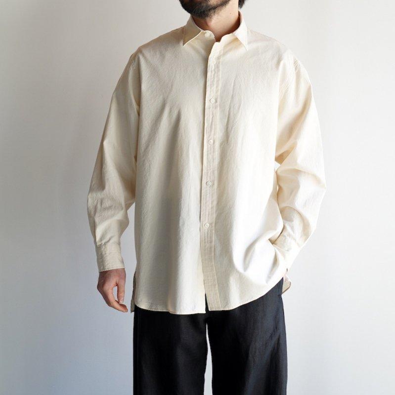 <img class='new_mark_img1' src='https://img.shop-pro.jp/img/new/icons50.gif' style='border:none;display:inline;margin:0px;padding:0px;width:auto;' />[ETS.MATERIAUX] イーティーエスマテリオ Regular collar shirt selvedge