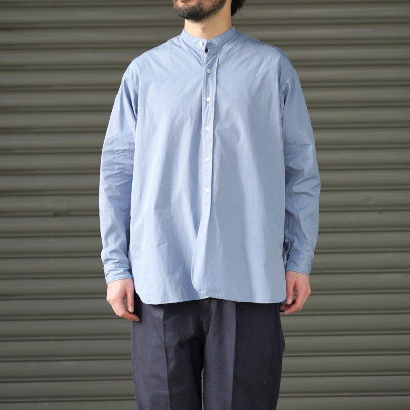 <img class='new_mark_img1' src='https://img.shop-pro.jp/img/new/icons8.gif' style='border:none;display:inline;margin:0px;padding:0px;width:auto;' />[RAKINES] ラキネス KJ poplin type3 / Band collar shirt (Airforce blue)