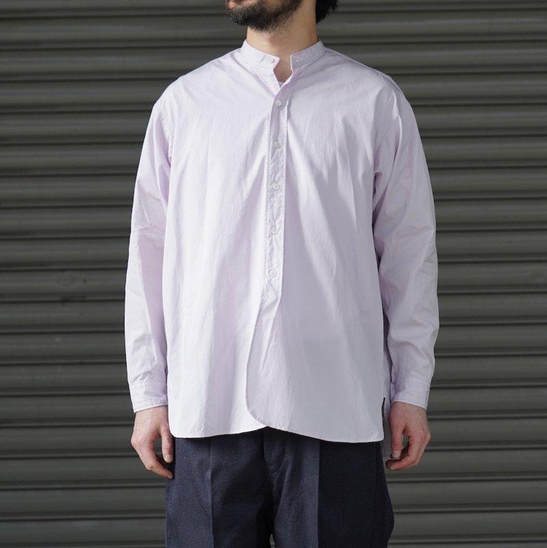 <img class='new_mark_img1' src='https://img.shop-pro.jp/img/new/icons50.gif' style='border:none;display:inline;margin:0px;padding:0px;width:auto;' />[RAKINES] ラキネス KJ poplin type3 / Band collar shirt (Old rose)