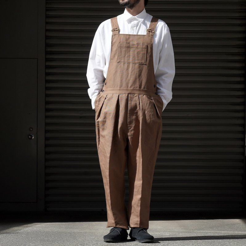 <img class='new_mark_img1' src='https://img.shop-pro.jp/img/new/icons8.gif' style='border:none;display:inline;margin:0px;padding:0px;width:auto;' />[NEAT] ニート Cotton-Linen Oxford / OVERALL (KHAKI)