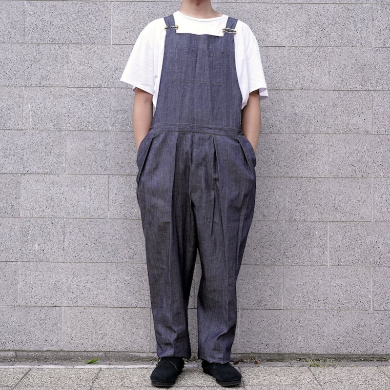 <img class='new_mark_img1' src='https://img.shop-pro.jp/img/new/icons8.gif' style='border:none;display:inline;margin:0px;padding:0px;width:auto;' />[ NEAT ] ニート Corn Dungaree / OVERALL (INDIDO)