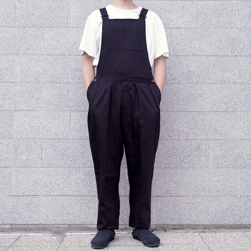 <img class='new_mark_img1' src='https://img.shop-pro.jp/img/new/icons50.gif' style='border:none;display:inline;margin:0px;padding:0px;width:auto;' />[ NEAT ] ニート Corn Denim / OVERALL (SuperBlack)