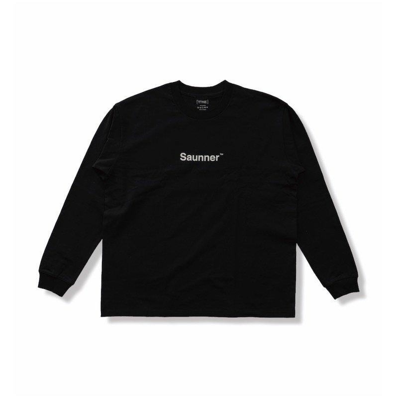 <img class='new_mark_img1' src='https://img.shop-pro.jp/img/new/icons8.gif' style='border:none;display:inline;margin:0px;padding:0px;width:auto;' />[TTNE] ティーティーエヌイー Saunner Logo Long Sleeve Tee (Black)