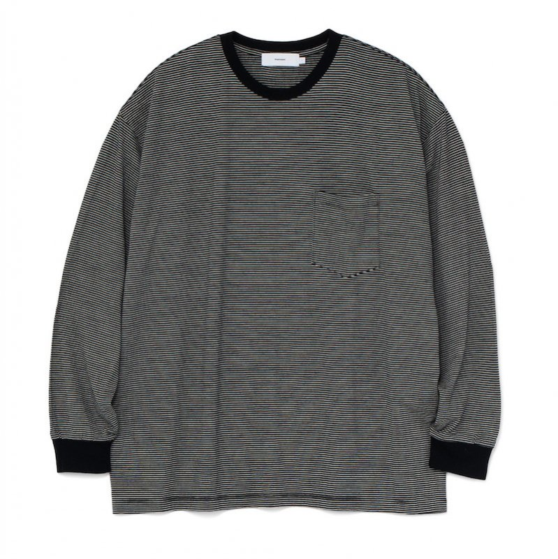 <img class='new_mark_img1' src='https://img.shop-pro.jp/img/new/icons50.gif' style='border:none;display:inline;margin:0px;padding:0px;width:auto;' />[Graphpaper]  Wool Border L/S Pocket Tee